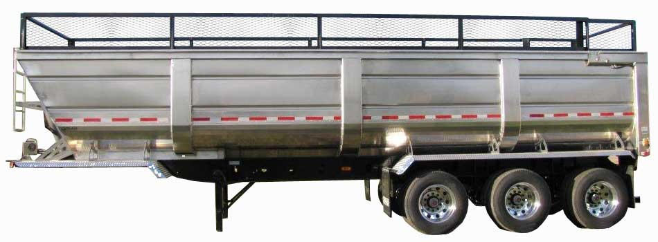 Aluminum Ag End Dump Trailer Cancade Company Ltd