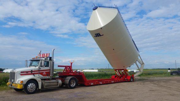 Hopper Bin Moving Trailer – Cancade Company Ltd. Innovation. Quality.  Dependability.